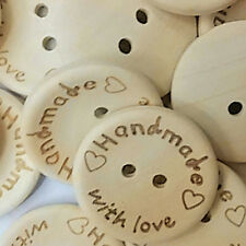 100X Wood Butterfly Love Heart Letter Carved Sewing Scrapbooking Buttons Dulcet