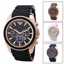 Men's Business Casual Fashion Wristwatch Quartz Silicone Analog Sport Watch