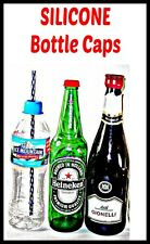 BOTTLE STOPPERS & CAPS, Wine, Beer, Soda Straw Hole Caps!!