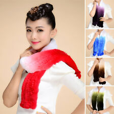 Women Real Rex Rabbit Fur Scarf Shawl Cape Stole Scarves Hot Series Scarf Collar