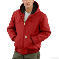 Carhartt Duck Active Jacket - Quilted Flannel Lined - RED