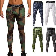 Mens Compression Base Layer Long Pants Tights Stretch Sports Gym Trousers Bottom