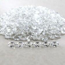 4x3mm - 8x10mm Natural White Topaz Oval Cut Top Quality White Color Gemstone