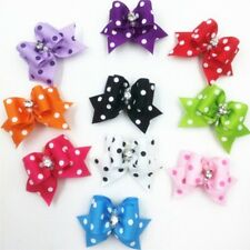 20pc Pet Cat Dog Assorted Hair Bows with Rubber Bands Puppy Grooming Accessories