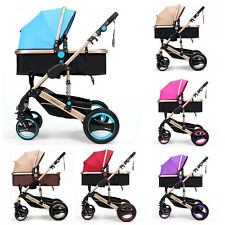 Folding Baby Belecoo Travel System Pram Carriage Stroller Buggy Pushchairs Top