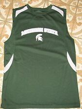 MICHIGAN SPARTANS GREEN TANK TOP PROEDGE MEDIUM NCAA BASKETBALL DETROIT M NBA