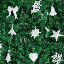 10pcs Christmas Tree Pendant Heart Reindeer Snowflake Ornaments Decorations