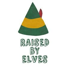 Mens / Unisex RAISED BY ELVES Shirt, American Apparel, Funny Christmas Elf Tee