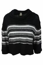 Free People $68 NWT Black White Striped Cropped Knit Top Womens