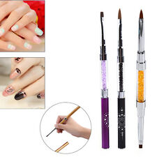 Nail Brush 3Colors Double Ended Manicure Acrylic UV Gel Builder 3D Painting Set