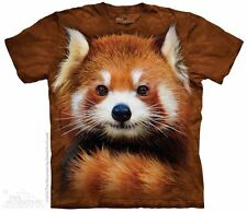 Red Panda Portrait T-Shirt by The Mountain. Wild Zoo Animals Mammal Sizes S-5X