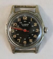 WWII Pilot Clebar Incabloc Wristwatch French US Military WW2 World War Two Watch