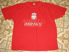 LIVERPOOL FC ANFIELD RED SHIRT OFFICIAL CLUB NO SIZE SOCCER FOOTBALL ENGLAND LVP
