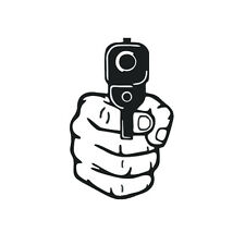 Pistol Car Laptop Sticker Car Decal Graphics Stickers Body Decals Truck Parts