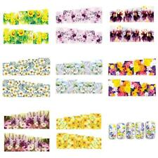 10x NAIL ART STICKER WATER TRANSFER STICKERS FLOWERS DECALS TIPS 3D DECORATIONS