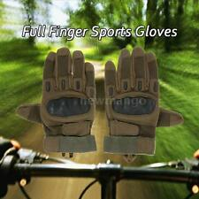 NEW Hard Knuckle Full Finger Tactical Gloves Sport Shooting Cycling Riding T6N5