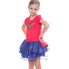 DC Comics Wonder Woman Girls Cape Tutu Costume Dress Playwear