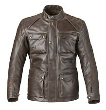Triumph Beaufort Men's Leather Motorcycle Jacket Brown MLHA16103