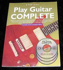 Step One: Play Guitar Complete 2005, Paperback INCLUDES 3 Instructional CDs