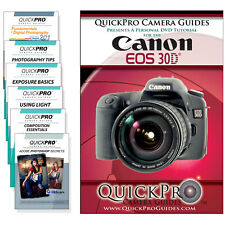 Canon 30D Quickpro Camera Training DVD Instructional Video Guide SLR NEW