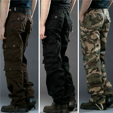 New Mens Casual Military Army Cargo Camo Combat Work Pants Trousers Pant