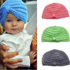 Adorable Solid Color Handmade Kids Boy/Girl Knit Hat Beanie Cap