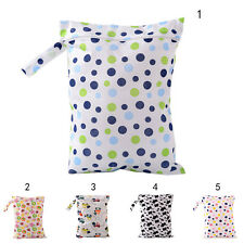 Baby Protable Nappy Washable Nappy Wet Dry Cloth Zipper Waterproof Diaper Bag AB