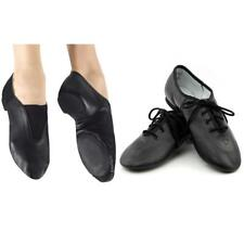 Men& Women Cow Leather Lace Up/ Slip On Jazz Shoes Split Sole Jazz Dance Shoes
