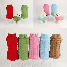 Pet Dog Puppy Cat Warm Sweater Clothes Knit Coat Winter Apparel Costumes TY