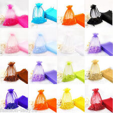25/50/100 Organza Jewelry Packing Pouch Wedding Party Favour Candy Gift Bag