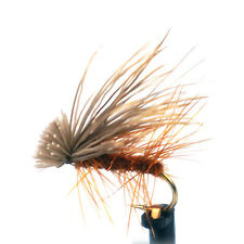 Aventik Elk Hair Caddis Brown Dry Trout Nymph Fly Fishing Flies Various Size New