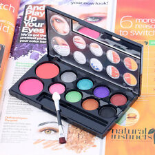 2Colors Professional Blusher+8Colors Eye Shadow Makeup Cosmetic Palette Tool ijS