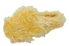 Making Waves Womens Yellow Super Hairy Fuzzy Slippers