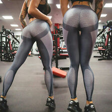 Women Long Yoga Workout Gym Leggings Fitness Sports Trouser Athletic Pant Grey
