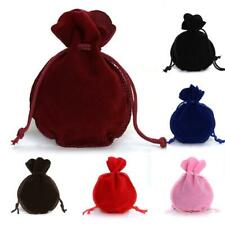 10 Pcs Drawstring Velvet Bags Pouches Jewelry Christmas Valentines Gifts Bags