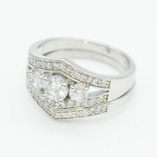 Crystal zircon silver plated rings fashion wholesale jewelry Shining Crystal HOT