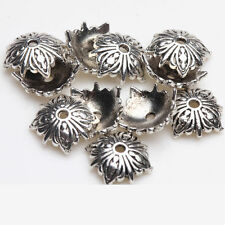Lot 20/50Pcs Tibetan Silver Flower Carved Bead Caps Jewelry Findings 10x10mm DIY