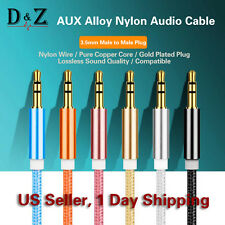 NEW High Quality 1M AUX Cable 3.5mm to 3.5mm Audio Cable For Car/Headphone/MP3/4