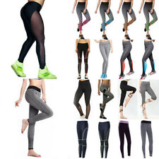 Womens YOGA Workout Gym Sports Running Pants Leggings Fitness Stretchy Trousers