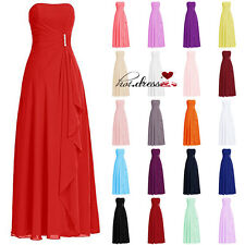 Cheap STOCK Long Chiffon Formal Prom Ball Party Evening Gowns Bridesmaid Dresses