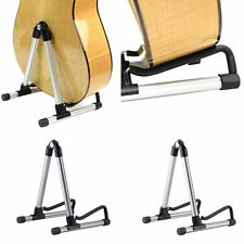 Folding Electric Acoustic Bass Guitar Stand A Frame Floor Rack Holder MU