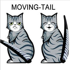 HOT Funny Cat Moving Tail Stickers Reflective Car Window Wiper Decals CarStyling