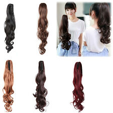 Trendy Clip In Ponytail Long Wavy Pony Tail Hair Extension Wrap On Hair Piece