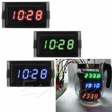 DC 12V Digital LED RGB Waterproof Dashboard Auto Clock Time for Motorcycle Car