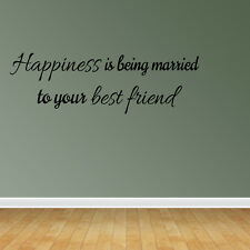 Wall Decal Quote Happiness Is Being Married To Your Best Friend Decal (VM30)