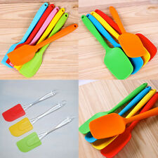 Silicone Baking Tool Cake Cream Butter Mixing Batter Spoon Color Random 1pcs