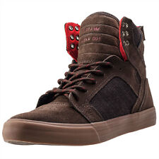 Supra Skytop Mens Trainers Brown Gum New Shoes