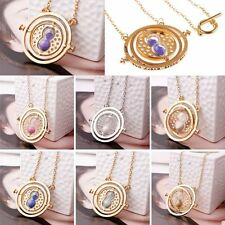 Harry Potter Time Turner Gold Necklace Hermione Granger Spins Hourglass Pendants