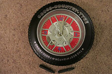 RED CROSS COUNTRY TYRE CLOCK NEW BOX AUTO SHOP MECHANIC MAN CAVE DESK WALL TIRE