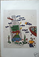 ABSOLUT WASHINGTON STATE - VICTOR HAYDEN, SIGNED & NUMBERED LITHOGRAPH